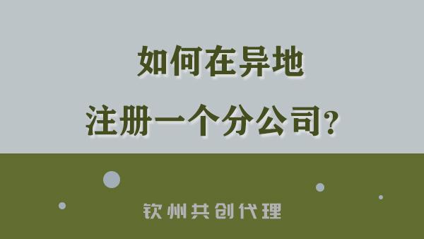 上海设立了一家公司,想扩大业务能否新开钦州分公司?